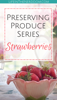 Preserving Strawberries at LifeInTheNerddom.com