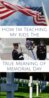 Teaching Kids the True meaning of Memorial Day at LifeInTheNerddom.com