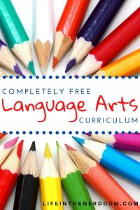 Free Language Arts Curriculum at LifeInTheNerddom.com