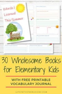 30 Wholesome Books for Elementary Kids at LifeInTheNerddom.com